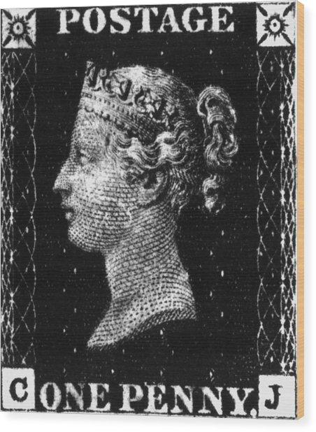 Penny Black Wood Print by Hulton Archive