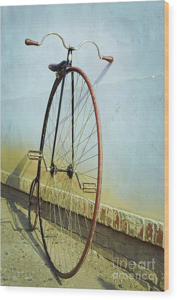 Penny Farthing ,high Wood Print
