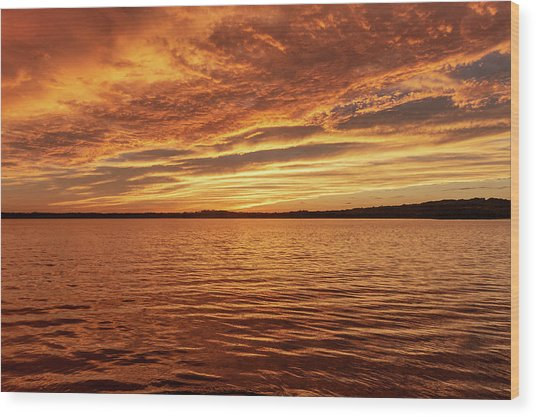 Percy Priest Lake Sunset Wood Print