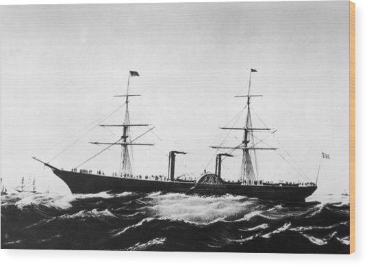 Persia Afloat Wood Print by Hulton Archive