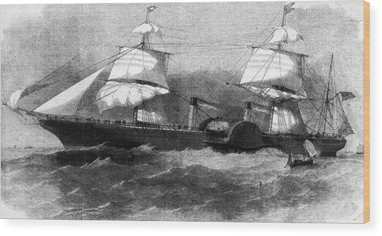 Persia In Full Sail Wood Print by Hulton Archive