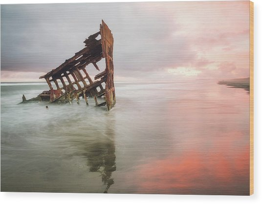 Wood Print featuring the photograph Peter Iredale Shipwreck by Nicole Young