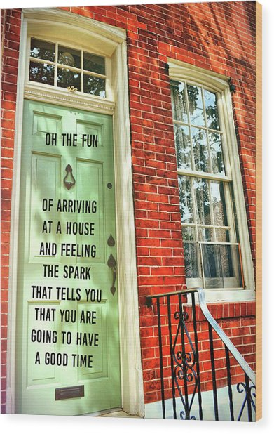 Philly Welcome Quote Wood Print by JAMART Photography