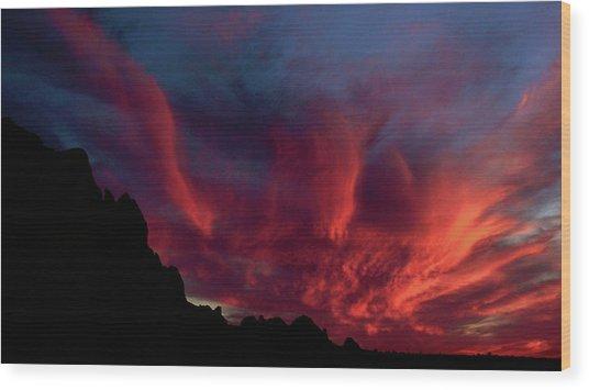 Phoenix Risen2 Wood Print