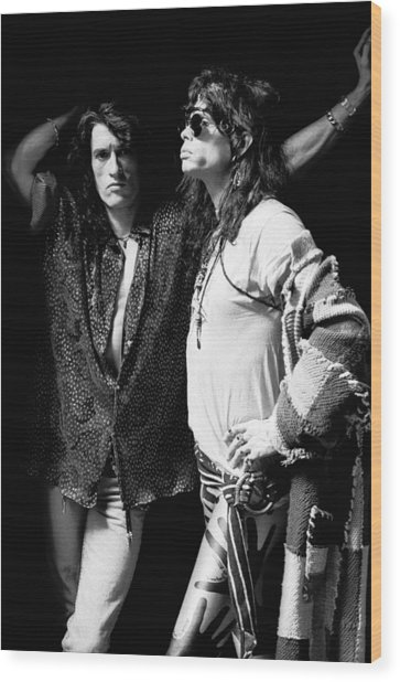 Photo Of Aerosmith Wood Print