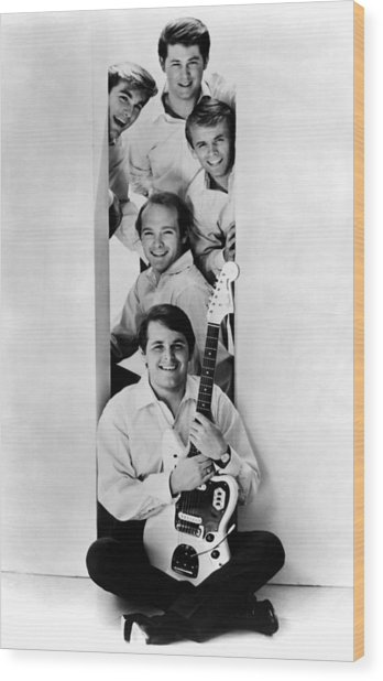 Photo Of Beach Boys And Al Jardine And Wood Print by Ca