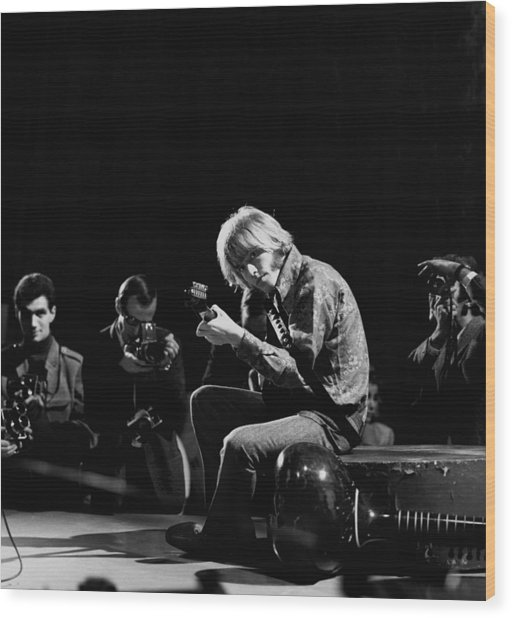 Photo Of Brian Jones And Rolling Stones Wood Print by David Redfern