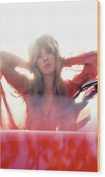 Photo Of Fleetwood Mac And Stevie Nicks Wood Print