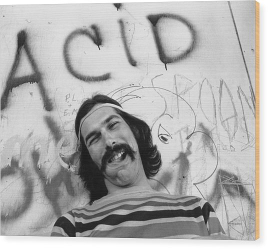 Photo Of Grateful Dead Wood Print by Michael Ochs Archives