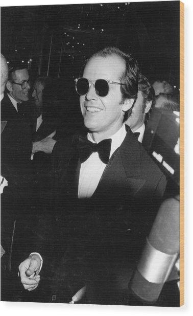 Photo Of Jack Nicholson Wood Print