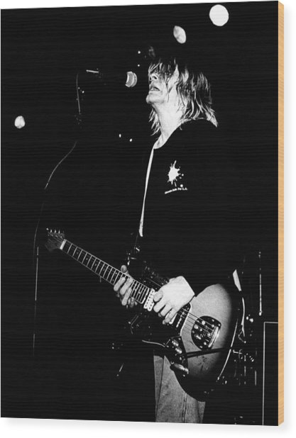 Photo Of Kurt Cobain And Nirvana Wood Print by Paul Bergen