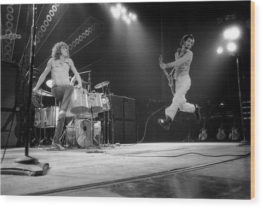 Photo Of Pete Townshend And Roger Wood Print by David Redfern