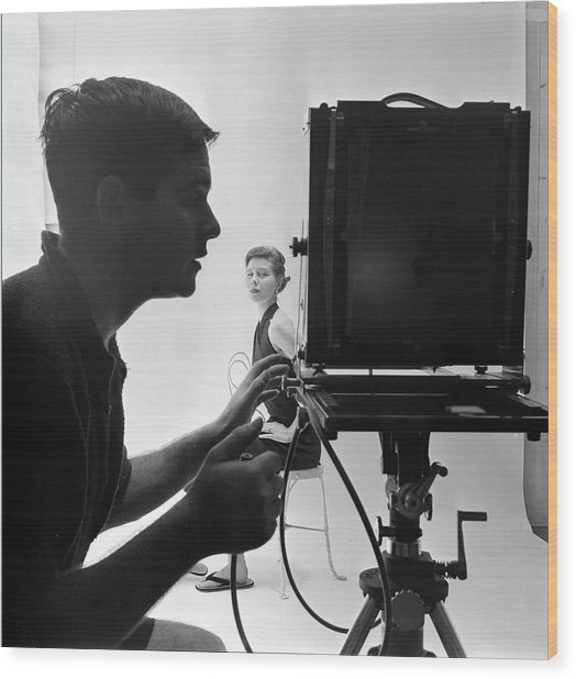 Photographing Bettina Wood Print by Gordon Parks