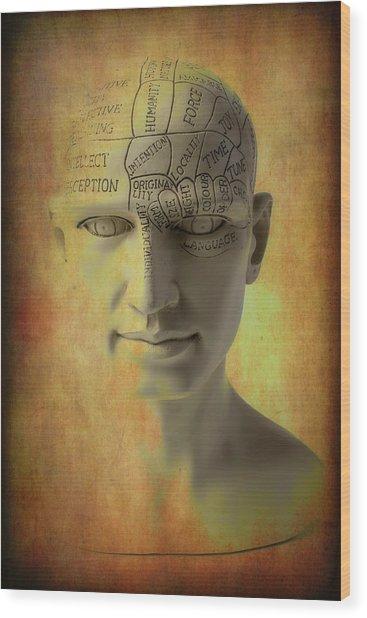 Phrenology Head Abstract Wood Print
