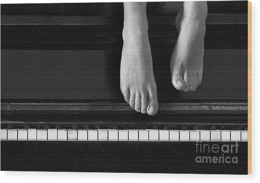 Piano #0215az Wood Print