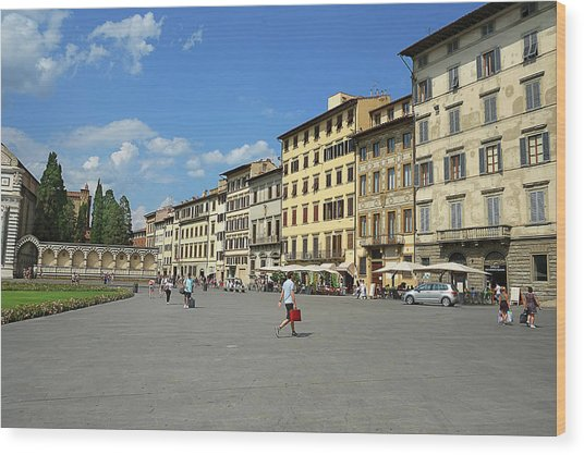 Piazza Santa Maria Novella Wood Print