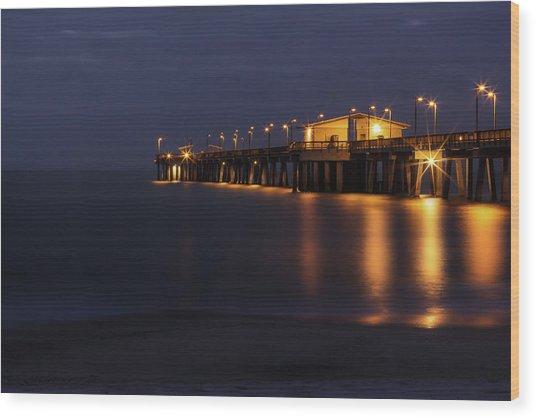 Pier Glow Wood Print