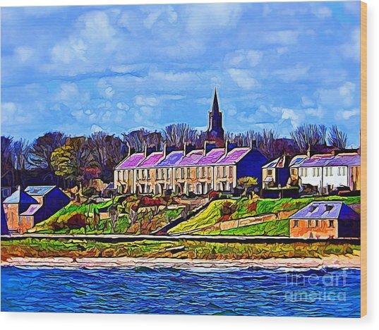 Pier Road, Berwick, Northumberland Coast - Photo Art Wood Print