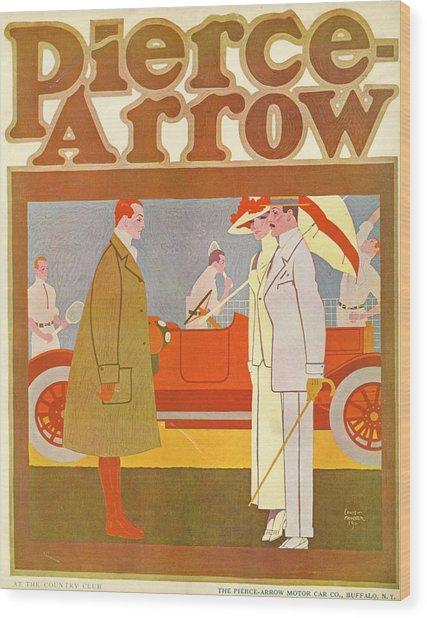 Pierce-arrow Advertisement Wood Print