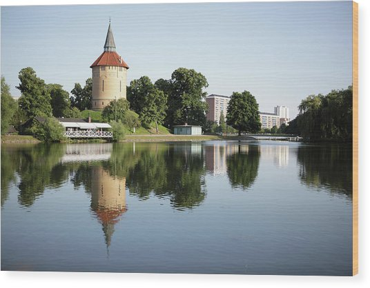 Pildammsparken In Malmo Wood Print by Secablue