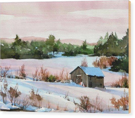 Pink Glaze Wood Print by Art Scholz