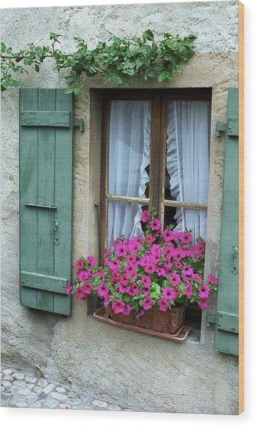 Pink Window Box Wood Print