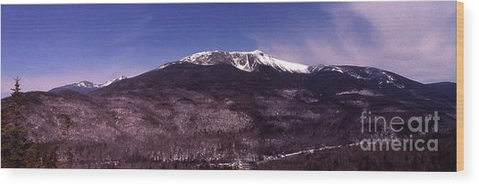 Pinkham Notch Mount Washington Wood Print by Alan Del Vecchio