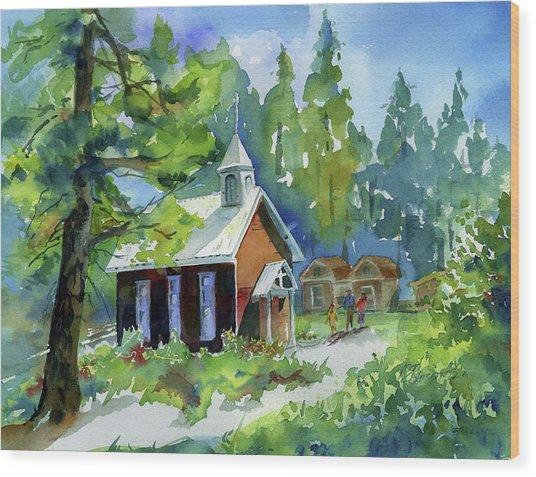 Pioneer Union Church Wood Print