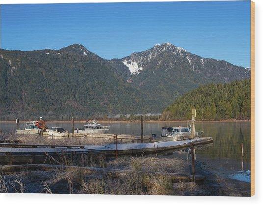 Pitt Lake Winterimpression Wood Print