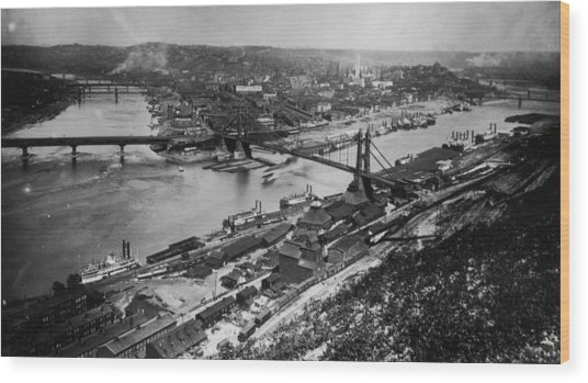 Pittsburgh, Pennsylvania Wood Print by Fotosearch