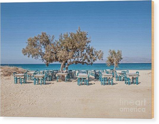 Plaka Beach Naxos Island Greece Wood Print