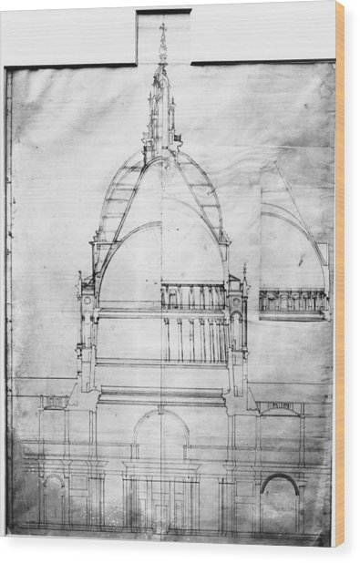 Plan Of St Pauls Wood Print by Topical Press Agency