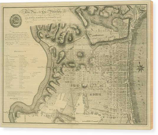 Plan Of The City Of Philadelphia And Its Environs Shewing The Improved Parts, 1796 Wood Print