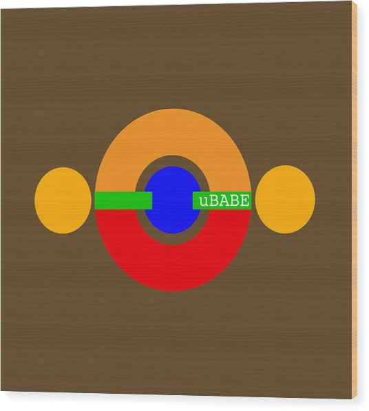 Planet Babe Wood Print