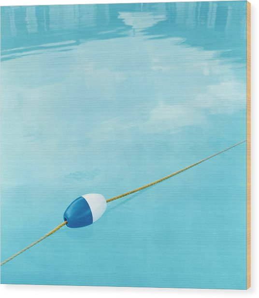 Plastic Float On Rope In Swimming Pool