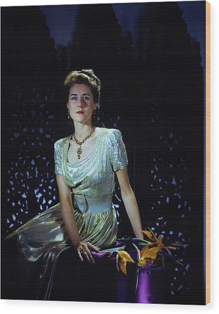 Playwright Clare Boothe Luce Wood Print by Horst P. Horst