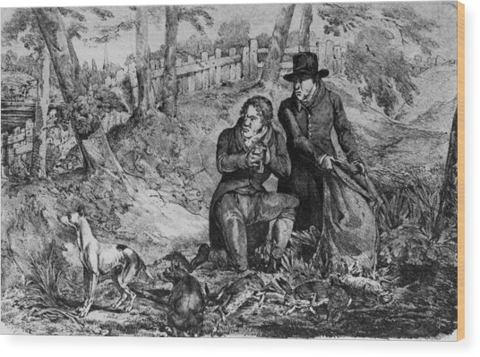 Poachers At Work Wood Print by Hulton Archive