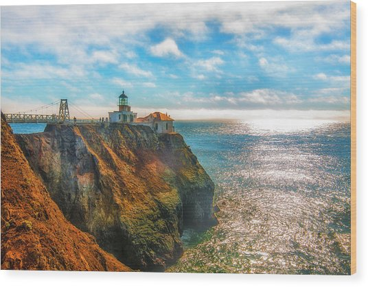 Point Bonita Lighthouse Wood Print by Fernando Margolles