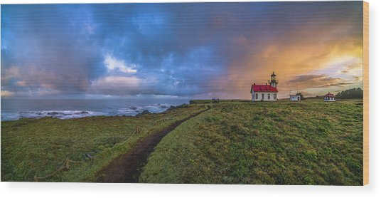Point Cabrillo Light Station Panorama Wood Print