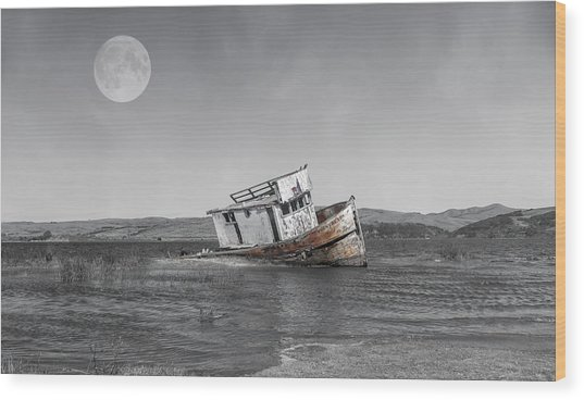 Point Reyes California Shipwreck Wood Print