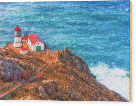 Point Reyes Lighthouse Wood Print by Fernando Margolles