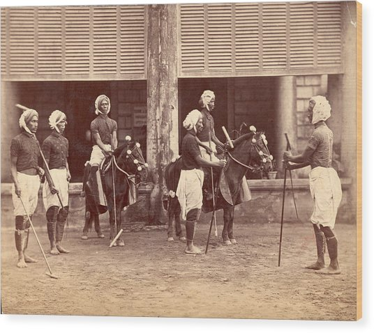 Polo In India Wood Print by Henry Guttmann Collection