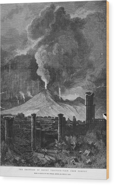 Pompeii Wood Print by Hulton Archive