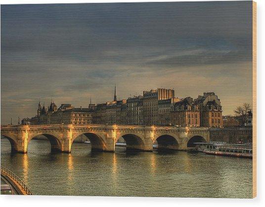 Pont Neuf  At Sunset, Paris, France Wood Print by Avi Morag Photography