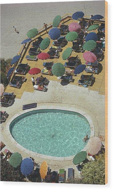 Pool At Carvoeiro Wood Print
