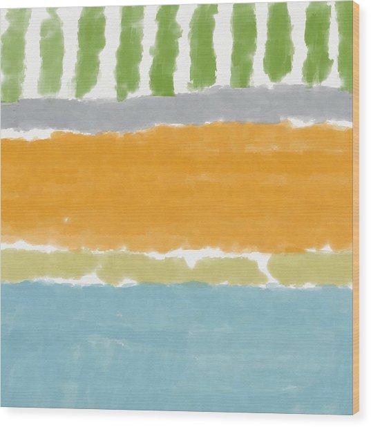 Poolside 1- Art By Linda Woods Wood Print