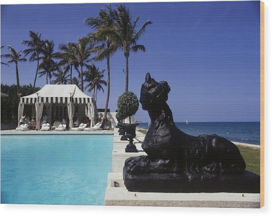 Poolside Luncheon Wood Print