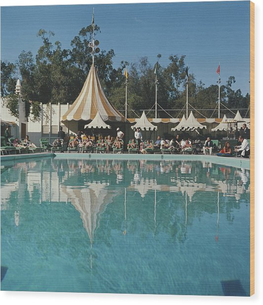 Poolside Reflections Wood Print by Slim Aarons