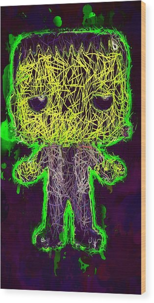 Frankenstein Pop 2 Wood Print