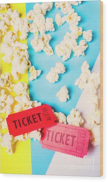 Popcorn Culture Wood Print